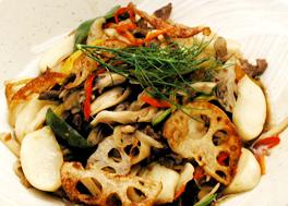 秋野菜の炒めサラダ
