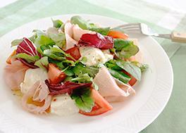 生ハムと豆腐のイタリアン風サラダ