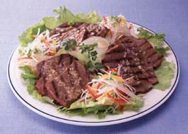 牛肉と白髪ねぎのサラダ