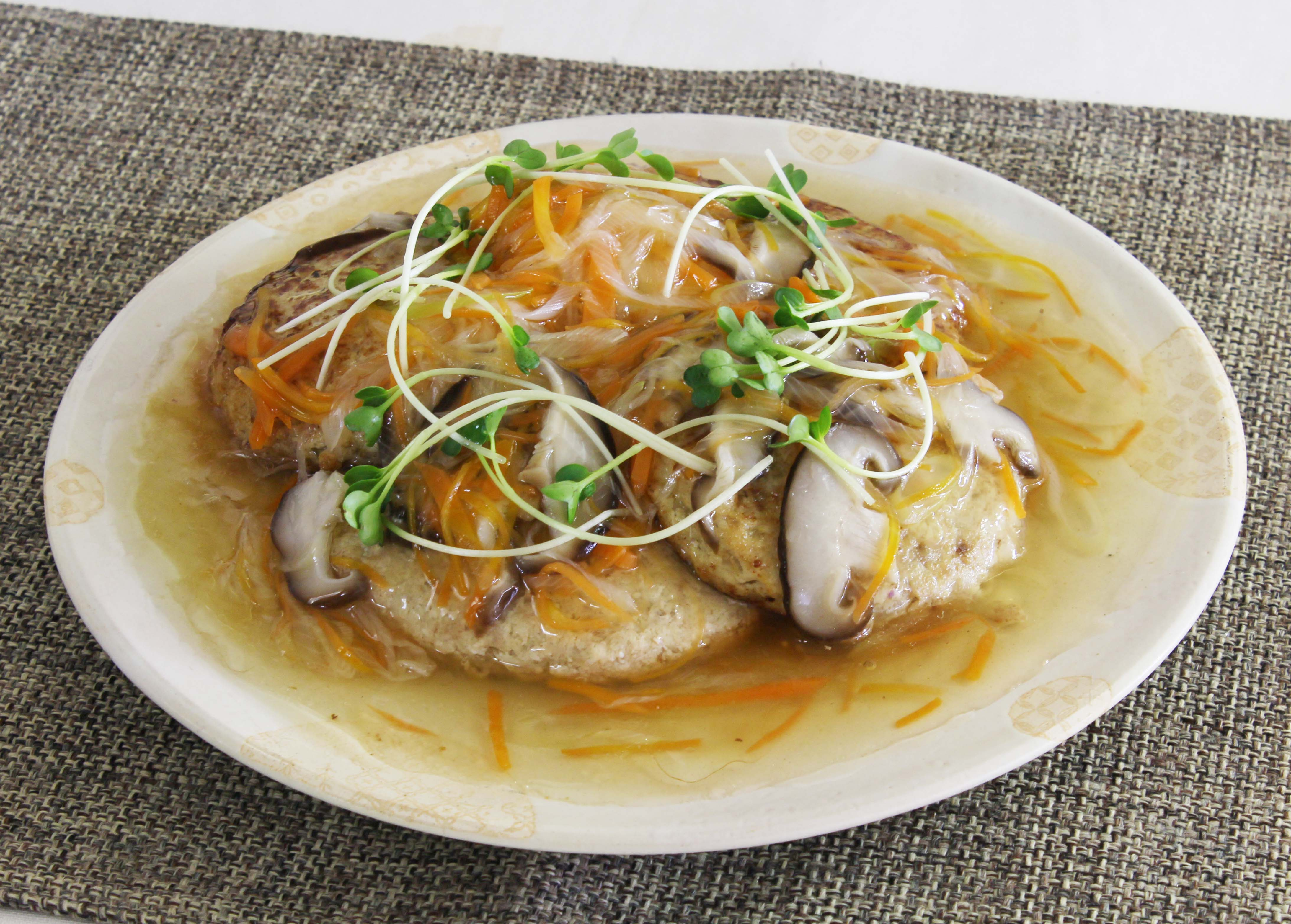ハンバーグ 豆腐