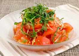 トマトとみょうがのさっぱりマリネ