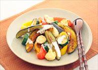 チーズ風味の焼き野菜サラダ