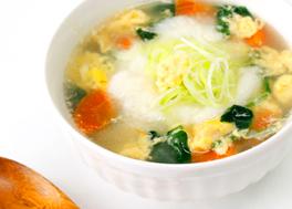 長いもと豆腐のふんわり生姜スープ