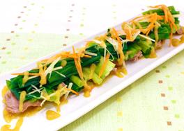 砂肝とにらのぬた風サラダ