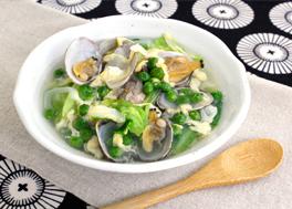 あさりとキャベツの和風スープ煮