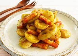里芋とれんこんのカレー炒め