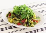 鶏肉とカラフル野菜のパクチー炒め