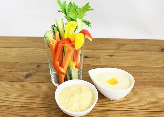2種の手作りディップソース&スティック野菜