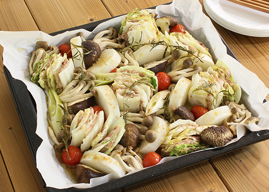 白菜のミルフィーユ風オーブン焼き