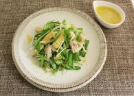 蒸し鶏と水菜のサラダ~甘酒ドレッシング和え~